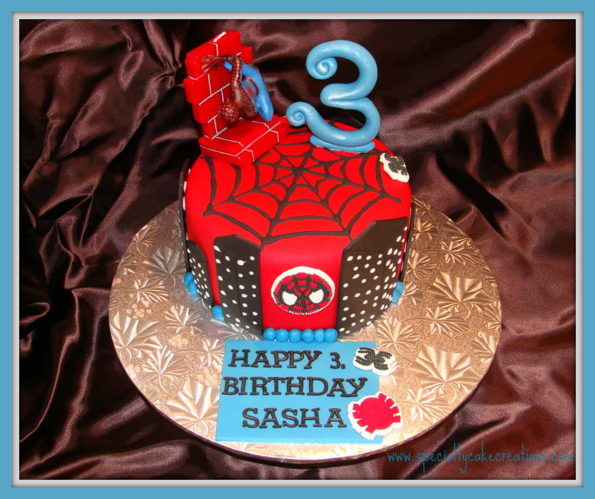 Black spiderman cakes - photo#36