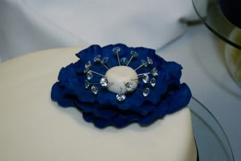 Wedding Cake-Blue Fantasy Flower