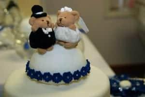 Teddy Bear Wedding Cake Topper