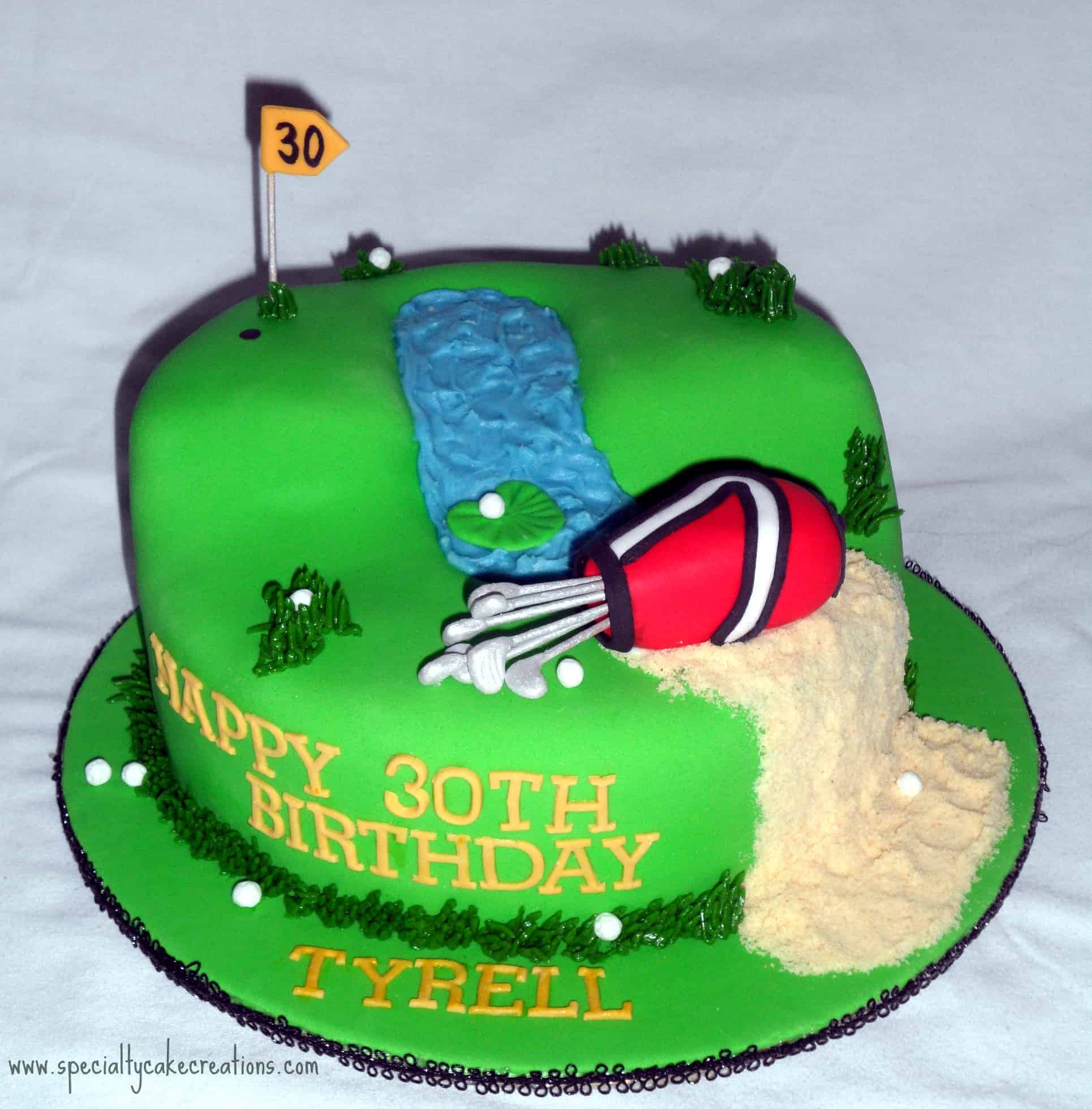 Golf Course Cake Design : Birthday Golf Course Cake