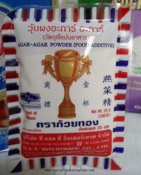 Bag of Agar Agar Powder