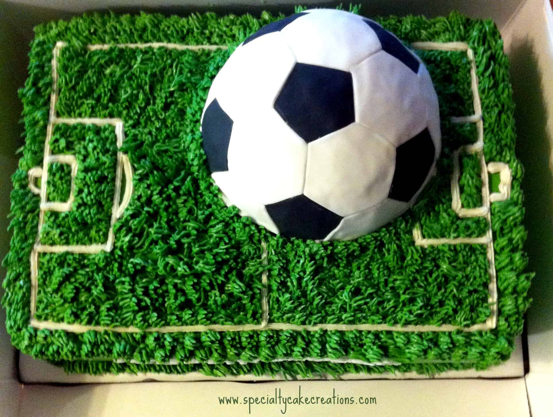 Soccer Field Birthday Cake