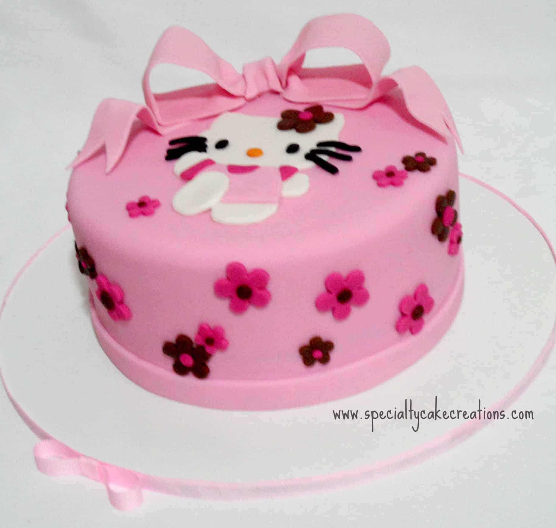 This hello kitty cake was created for a special going away party it