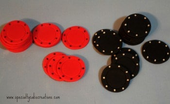 Poker chip chocolate molds