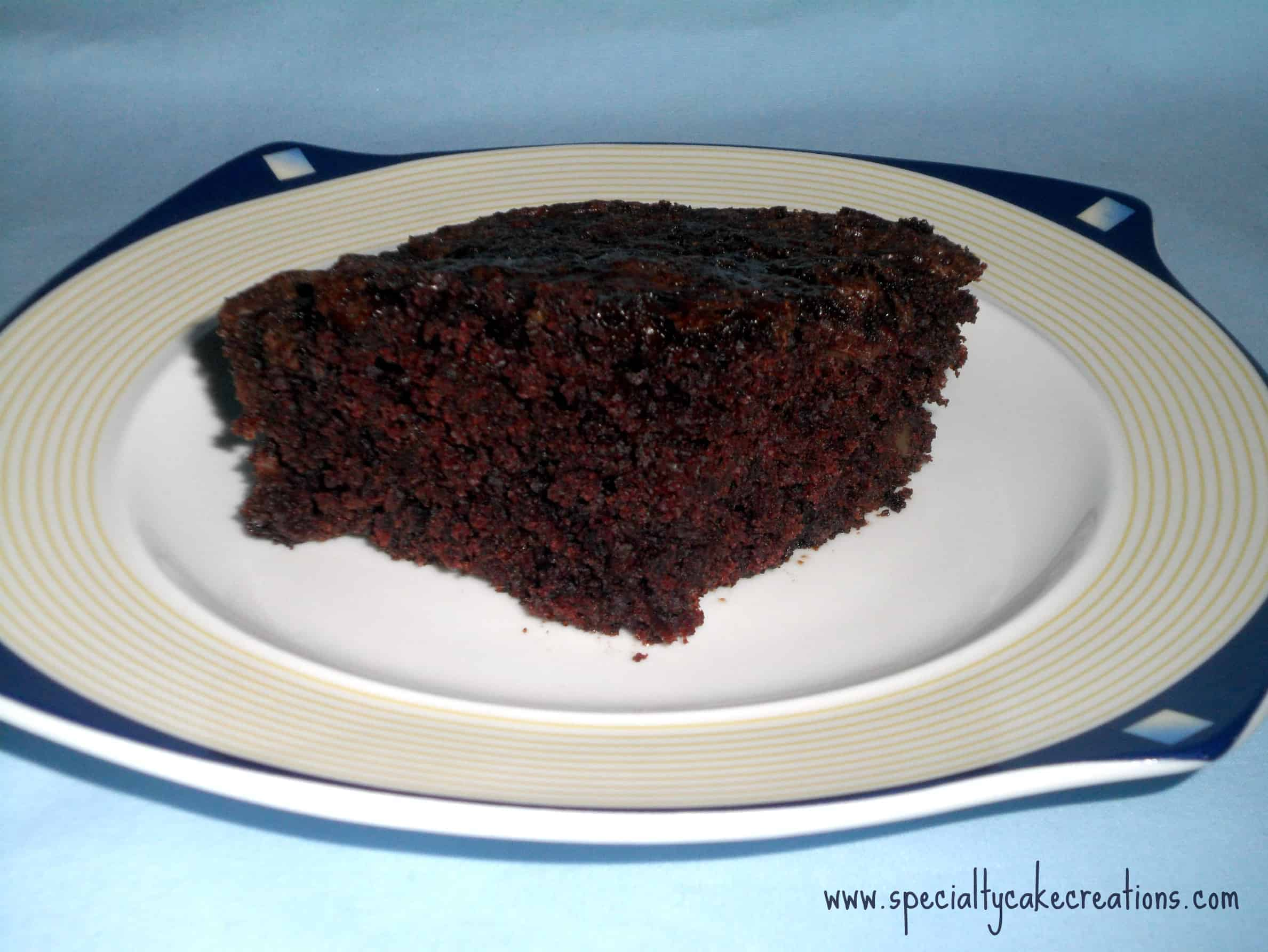 Chocolate Brownie Slice on Plate