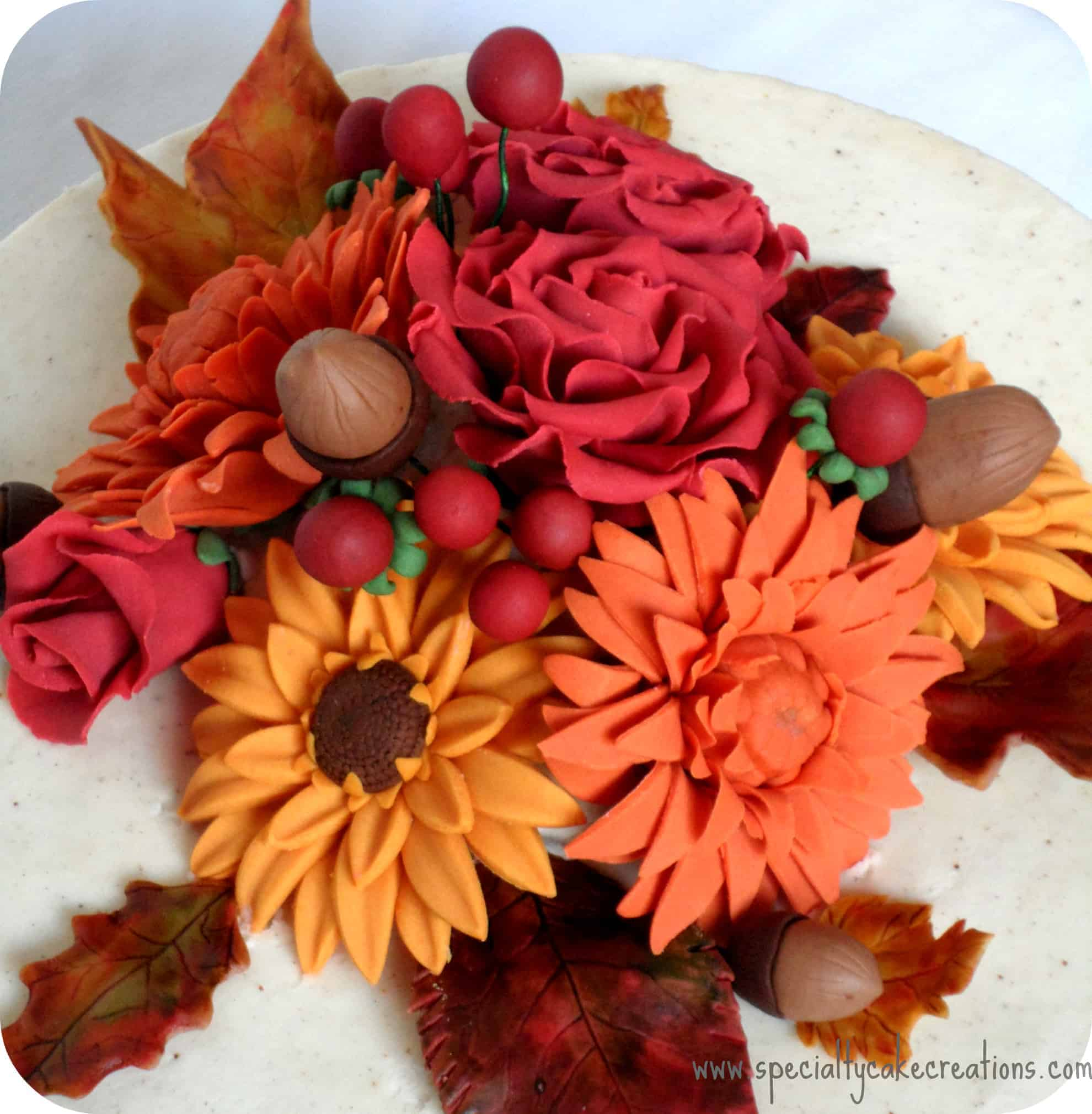 Gumpaste Flowers For Wedding Cakes: Easy Pumpkin Cake • LeelaLicious