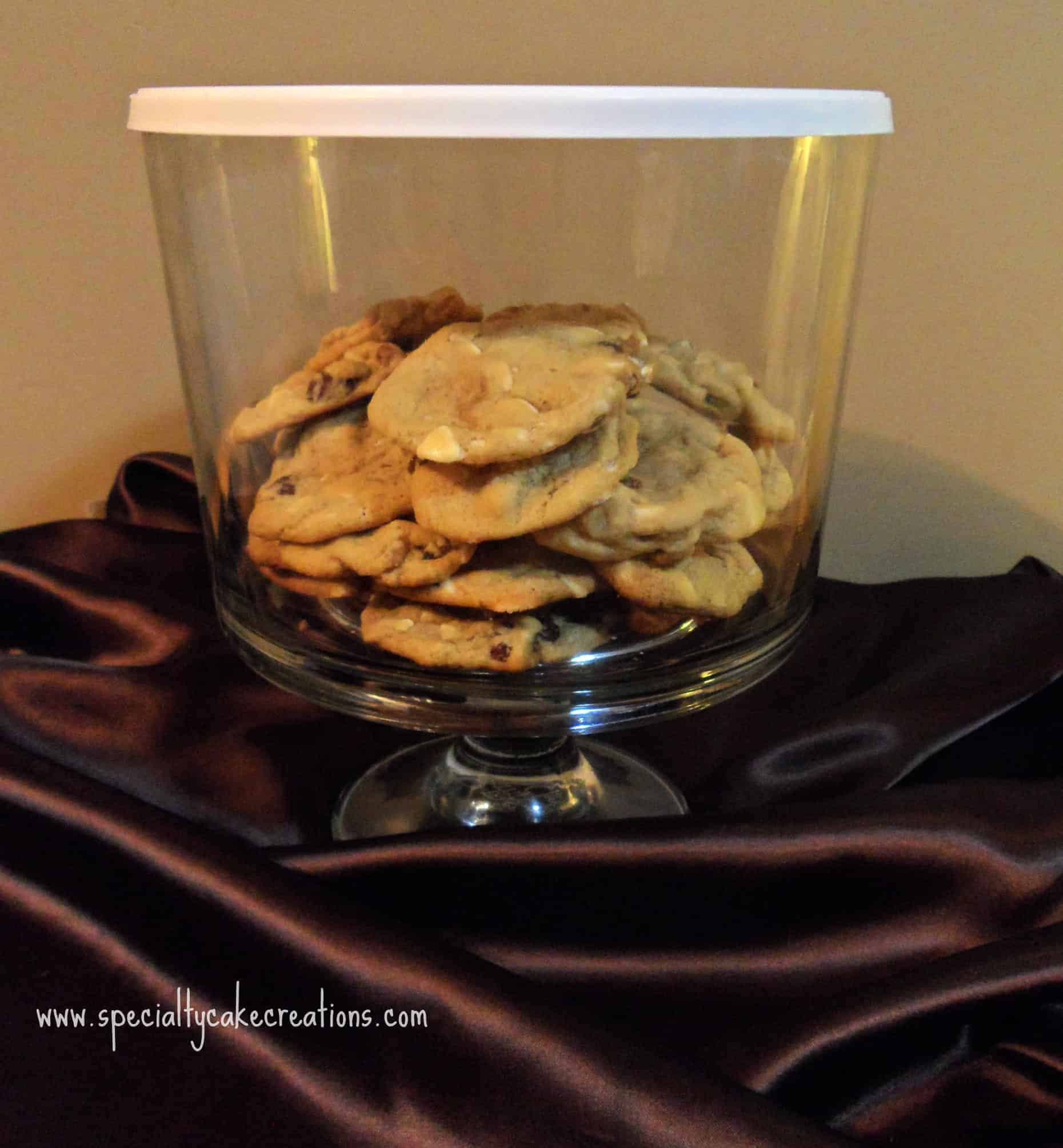 Cookies in Covered Bowl