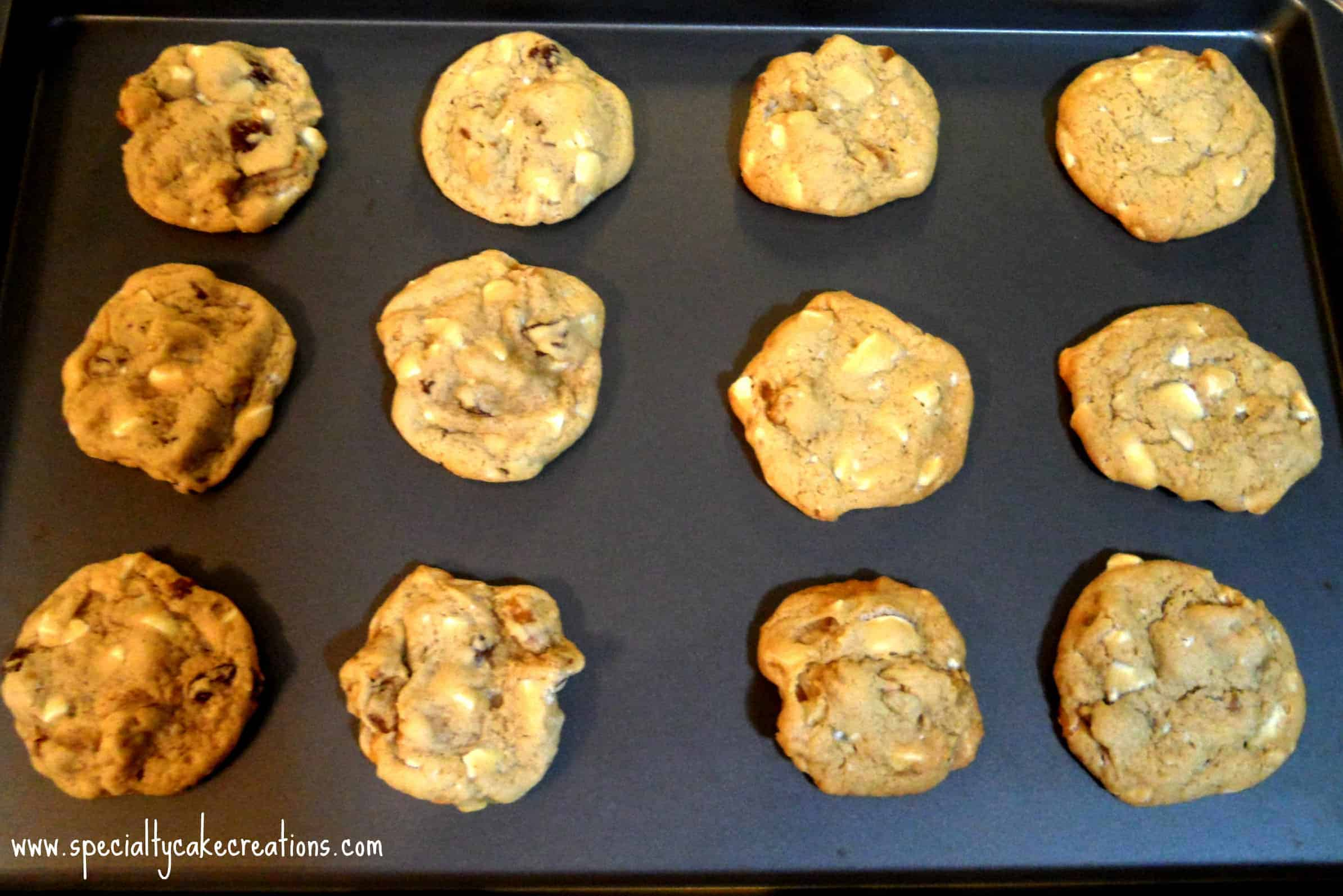 Maple Walnut Cookies on Tray