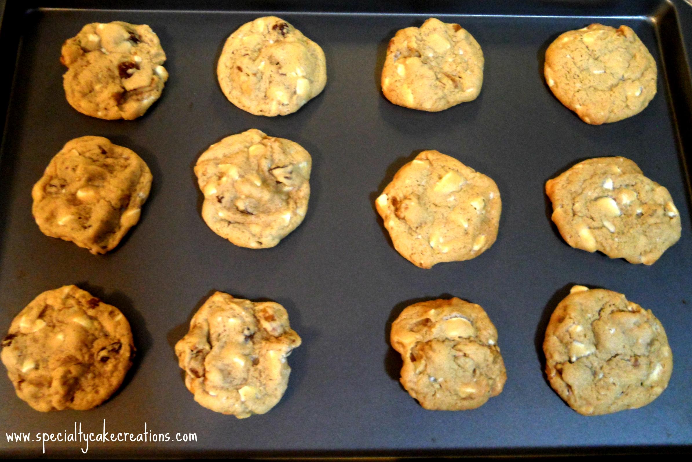 Maple Walnut Cookies on Tray