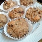 Whole Wheat Raisin Spice Nut Muffin Recipe