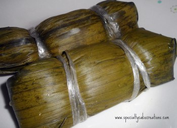 Banana Leaves with Sticky Rice