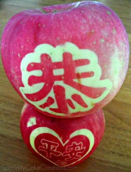 Stacked Apples with Designs