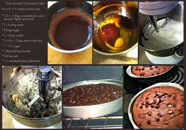 Images of Making Chocolate Cake