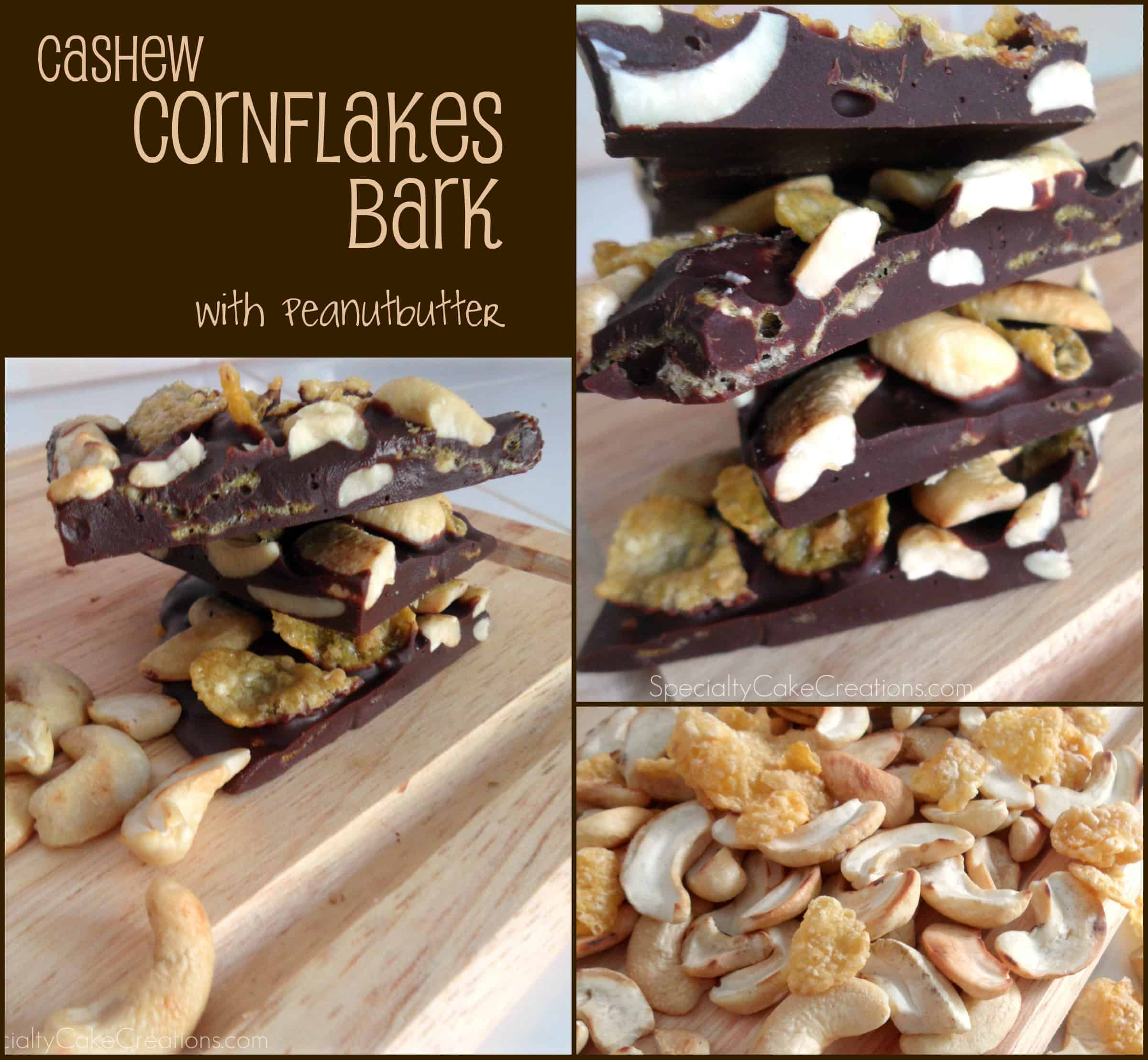 Cashew Cornflakes Bark with Peanutbutter