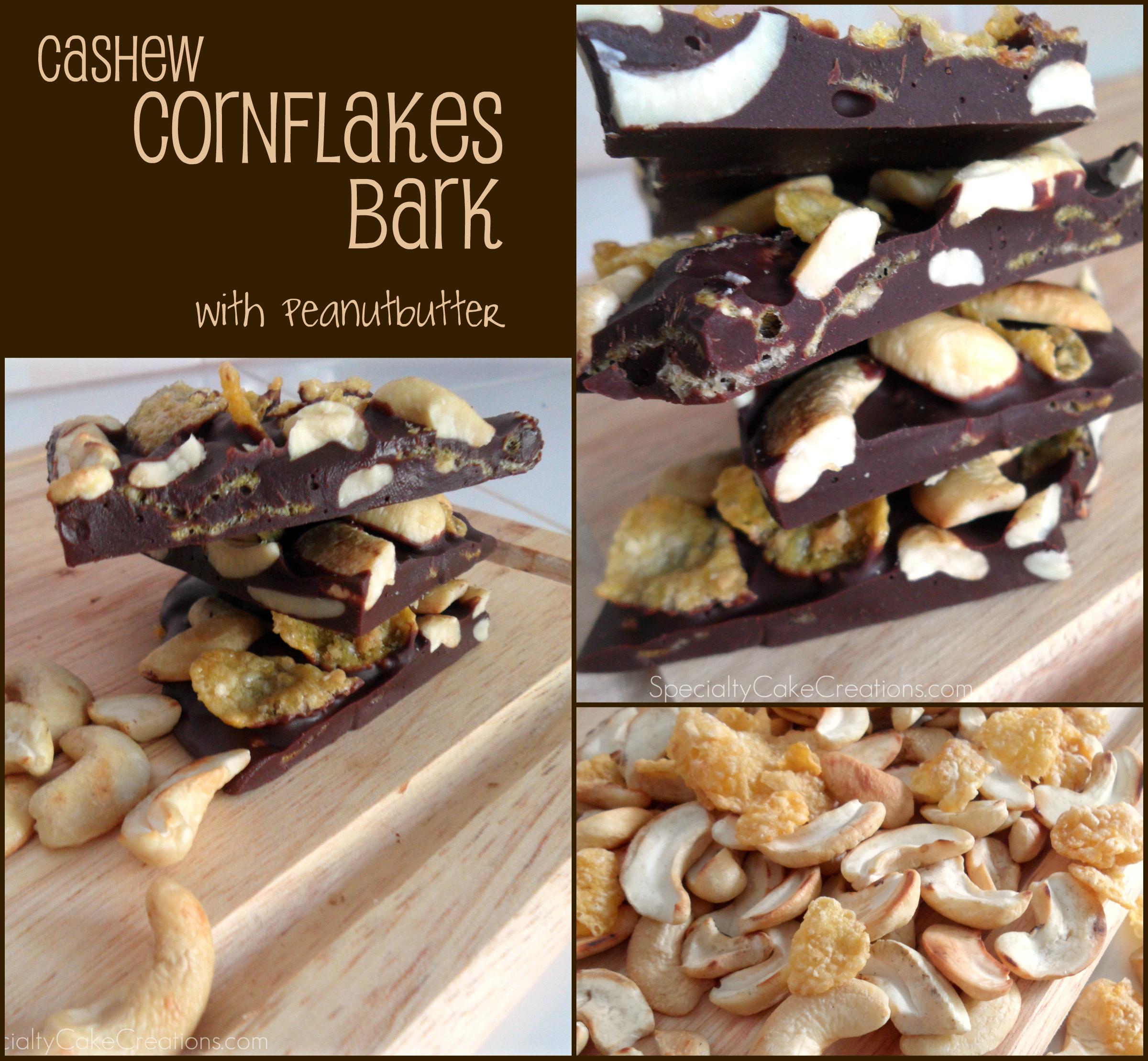 Three Photos of Chocolate Bark