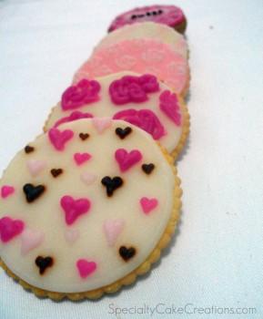 Row of Glazed Cookies