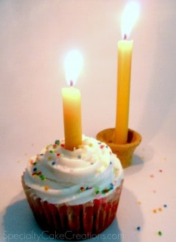 Cupcake with Candle on Top