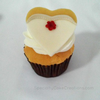 Cupcake with Bride Topper