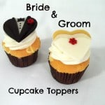 Bride & Groom Cupcake Toppers