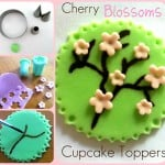 Cherry Blossoms Cupcake Topper Tutorial