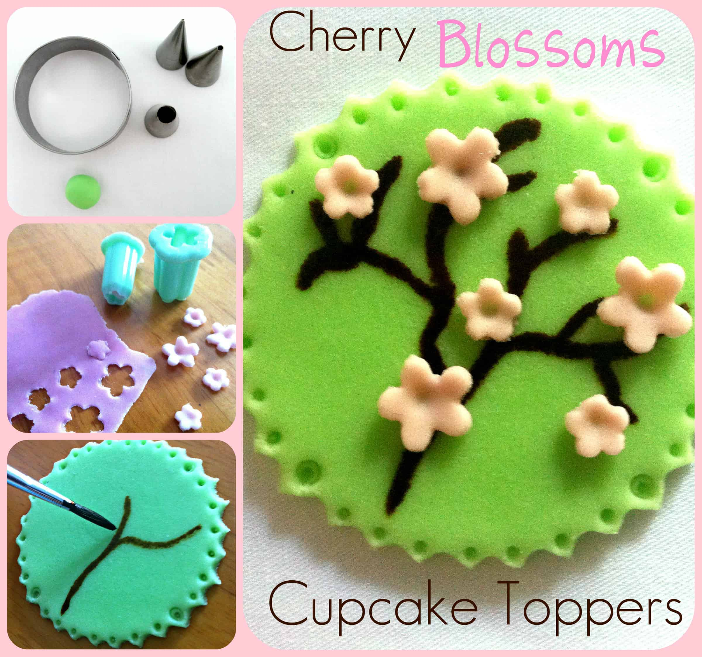 Cherry Blossoms Cupcake Toppers