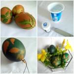Adding Leaf Design to Eggs