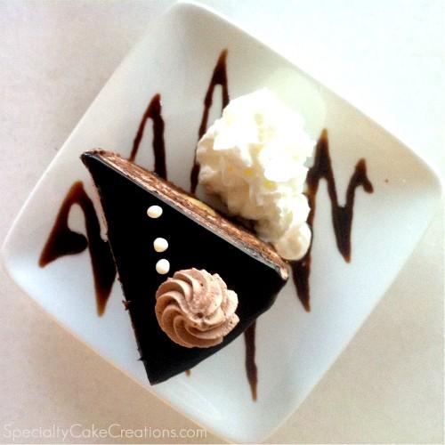 Banana Chocolate Cake on Plate