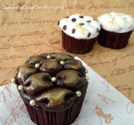 Billow Cupcakes with Pearl Dust