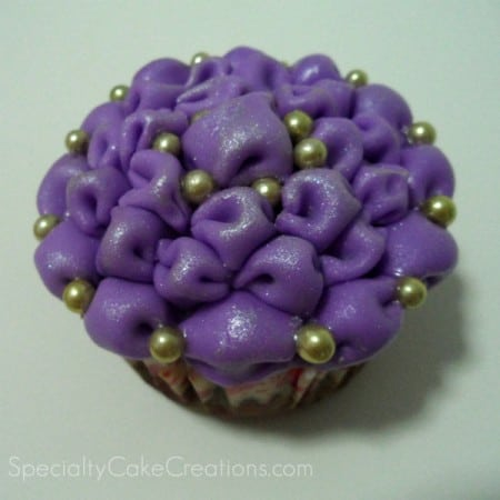 Purple Tufted Billow Cupcake