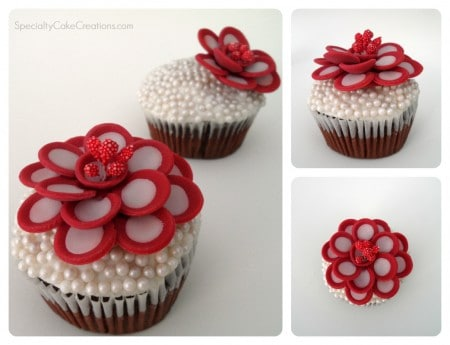 Flower Toppers for Cupcakes