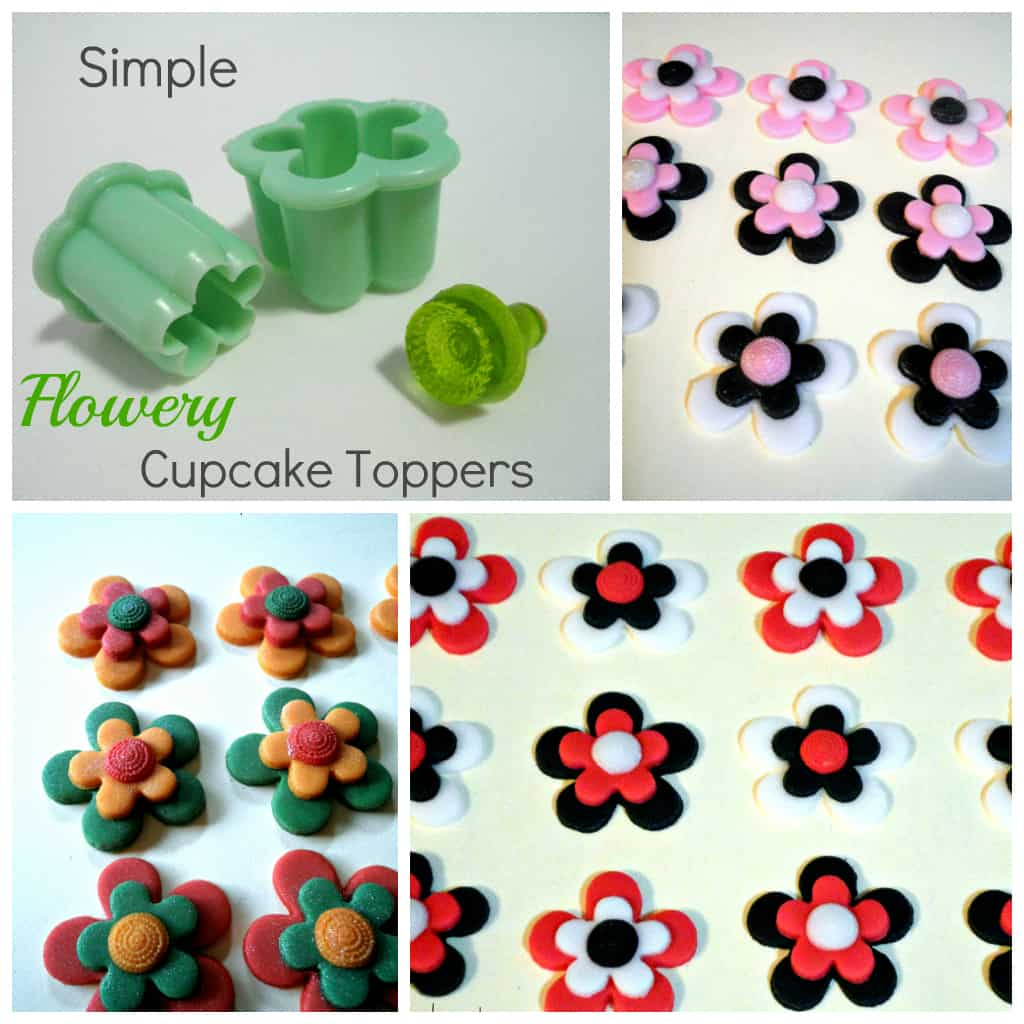 Simple Flowery Cupcake Toppers