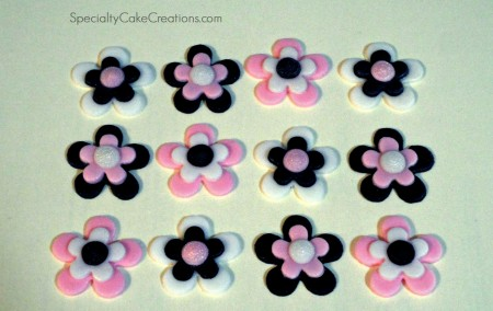 Black and Pink Cupcake Toppers