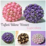 Homemade Tufted Billow Weave Cupcakes
