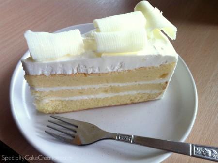 White Chocolate Coconut Cake Piece