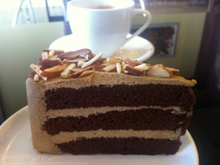 Side of Mocha Almond Cake