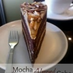 Three Layered Mocha Almond Cake