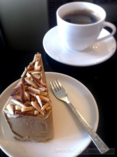 Mocha Almond Cake with Coffee