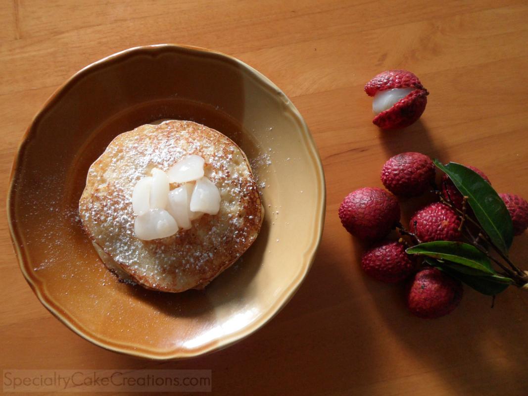 Yogurt Pancakes with Lychee