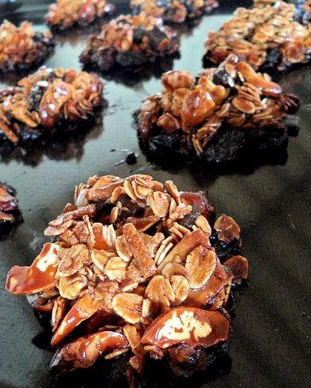Granola Clusters on Baking Sheet