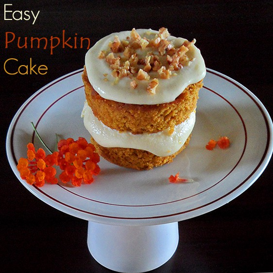 Pumpkin Cakelet on Stand
