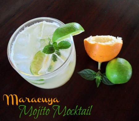 Maracuya Mojito Mocktail | leelalicious.com