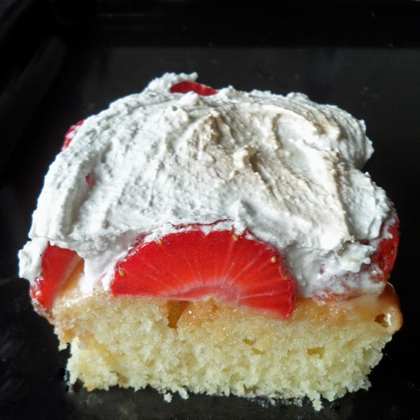 Strawberry Cake with Meringue Topping