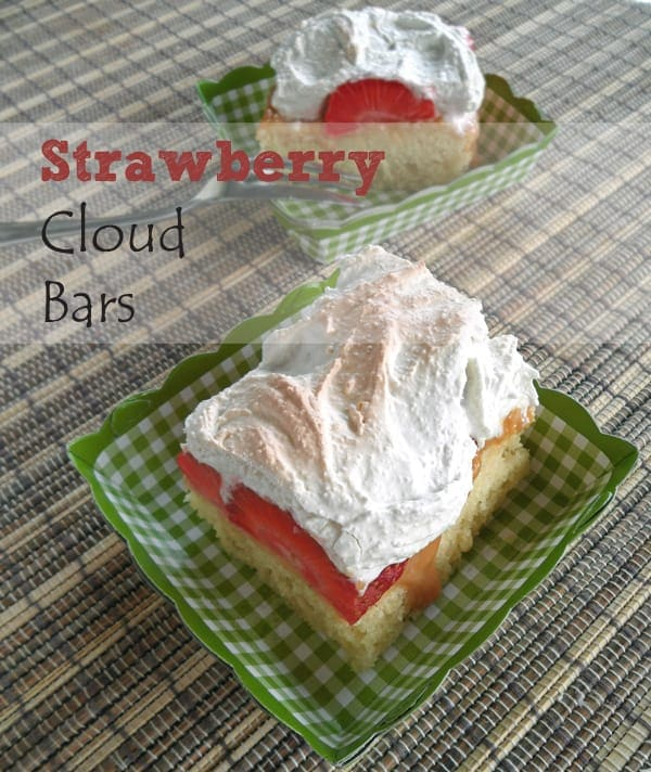 Strawberry Cloud Cake with Meringue