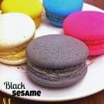 Black Sesame Macarons at {Macaron Cafe|Penang}