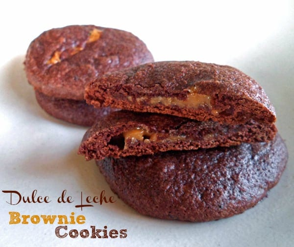 Brownie Cookies with Dulce de Leche Centers