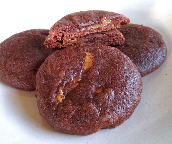 Dulce de Leche filles Brownie Cookies