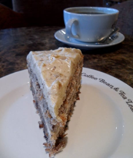 Frosted Slice of Hummingbird Cake