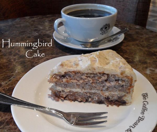 Hummingbird Cake Slice with Coffee