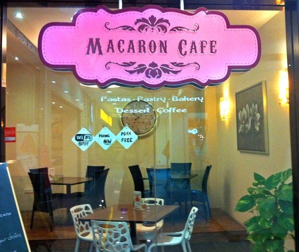 Outside of Macaron Cafe