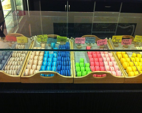 Display of Colourful Macarons